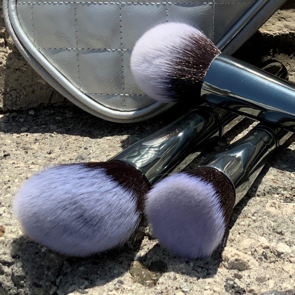 beautical metal glam brush set gunmetal vegan makeup brushes