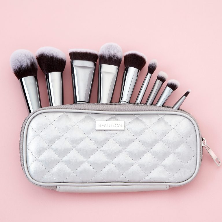 beautical metal glam brush set makeup brushes gunmetal