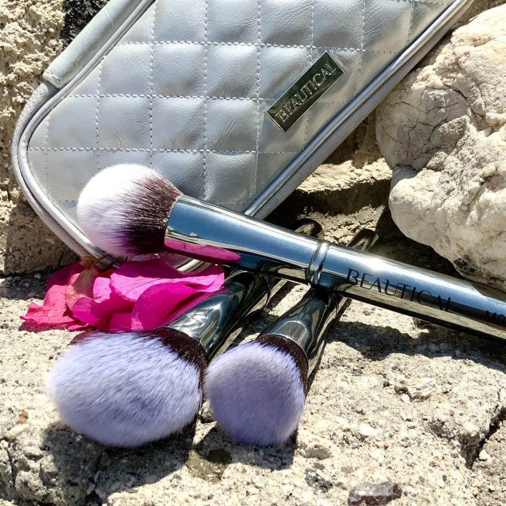 beautical metal glam brush set vegan soft gunmetal rushes