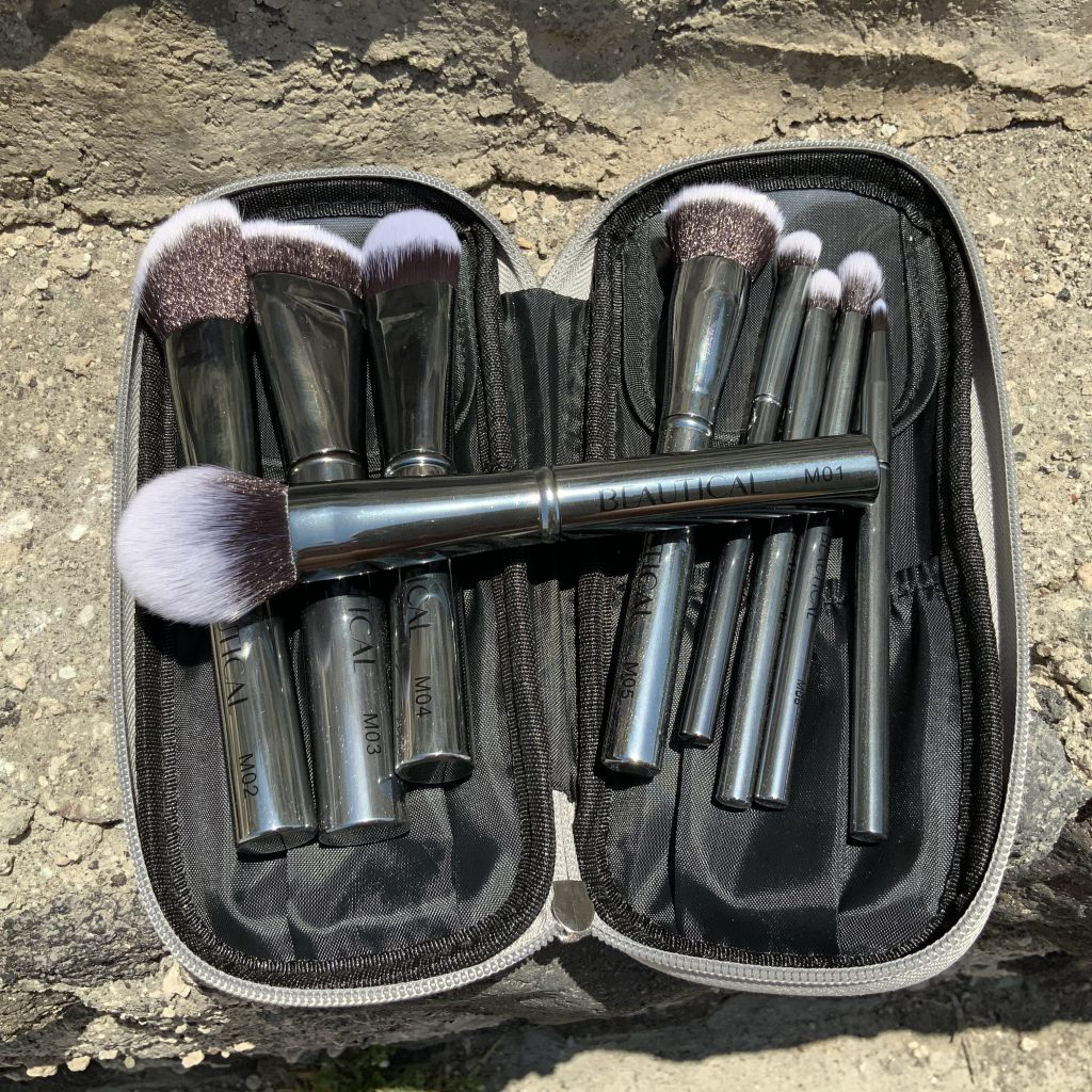 beautical mtal glam brush set gunmetal vegan makeup brushes